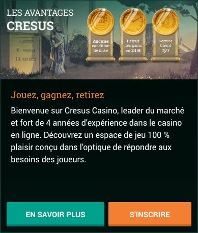 Cresus Casino as vantagens