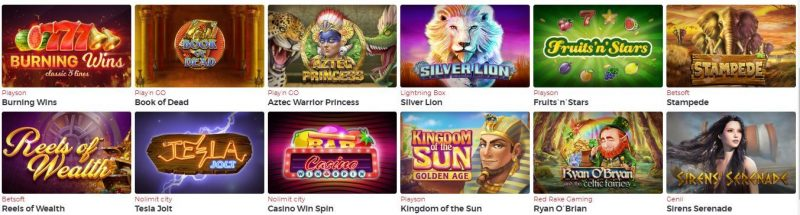 Jogos de Casino Lucky31