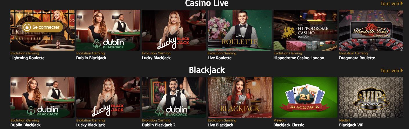 Casino Live Casino Extra