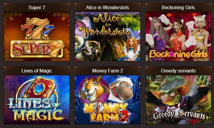 Osiris Casino jogos