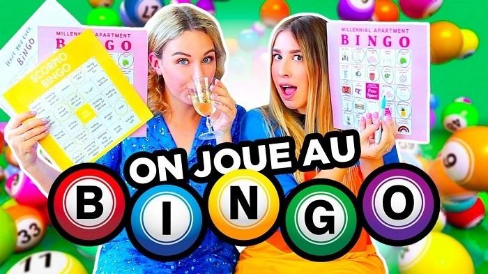 duas meninas jogam bingo