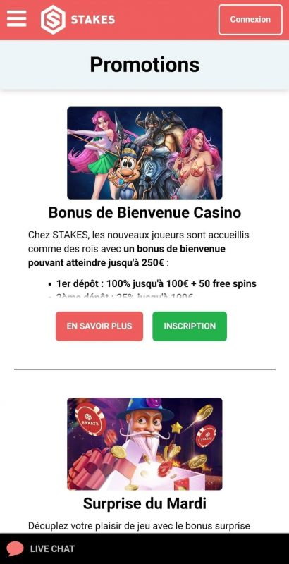 stakes Casino Promotion mobile